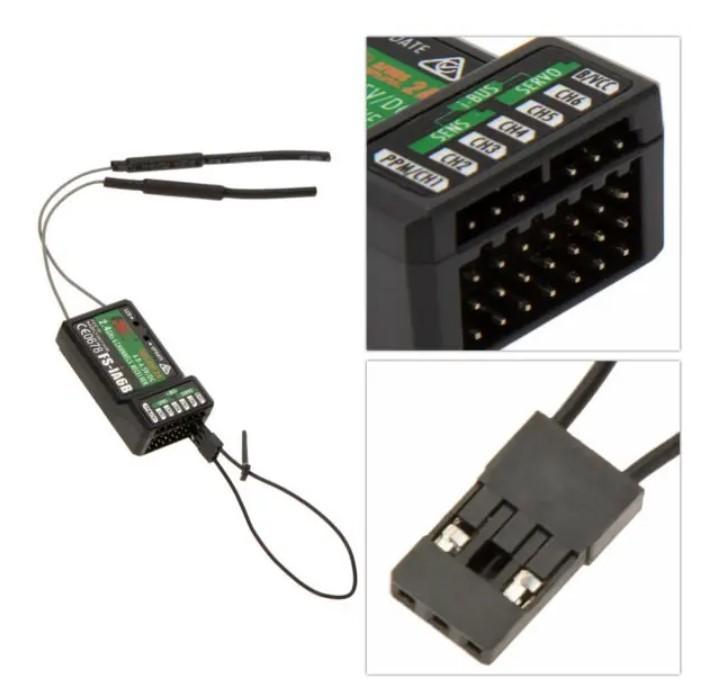 FlySky FS-i6 2.4G FS-iA6B レシーバ付き 6CH AFHDS RCトランスミッタ - モード1(右ハンドスロットル)_画像9