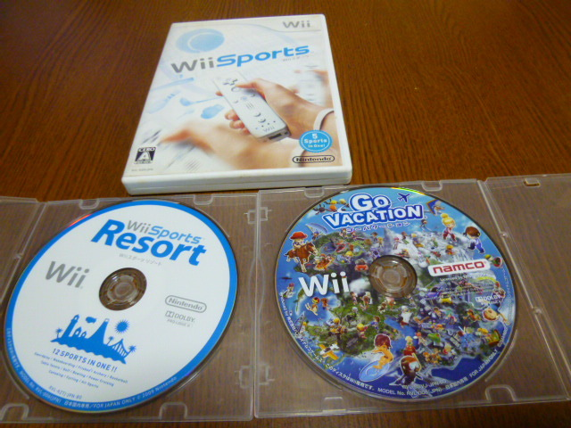 J33【送料無料】Wii ソフト セット Wiiスポーツ ゴーバケーション スポーツリゾート(クリーニング 動作確認済)まとめ