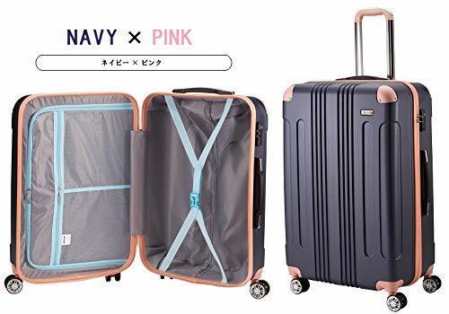ムーク◆超軽量 スーツケース 機内持ち込み キャリーケース キャリーバック 小型 かわいい Sサイズ ネイビー_画像2