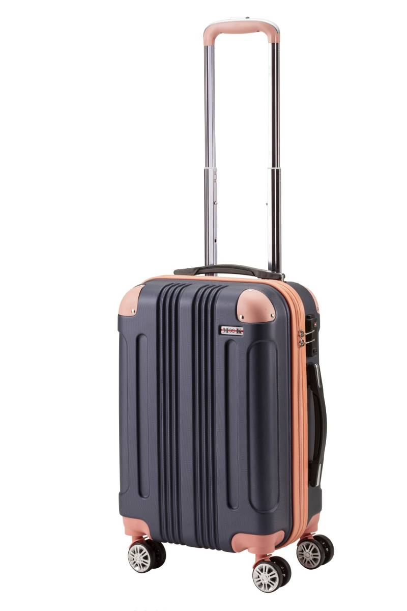 ムーク◆超軽量 スーツケース 機内持ち込み キャリーケース キャリーバック 小型 かわいい Sサイズ ネイビー_画像1