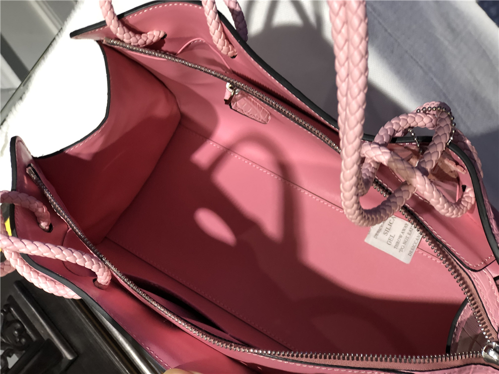 クロコダイル ワニ革 トートバッグ ハンドバッグ カバン 鞄 レザー 鰐 最高級 腹部革 女性 レディース バッグ 本革 手提げ ピンック_画像7