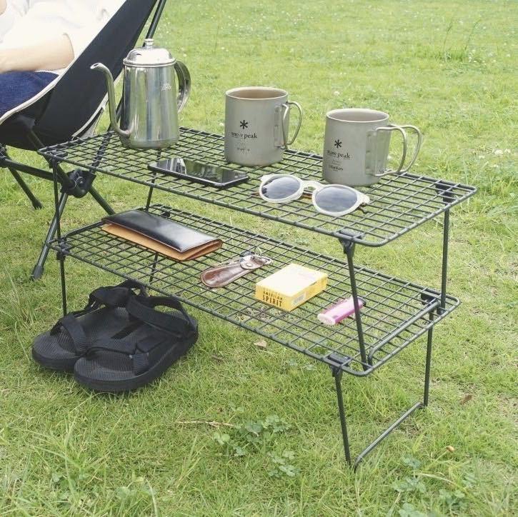 キャンプ アウトドアテーブル ユニフレーム風 フィールドラック 3つセット 便利 camp
