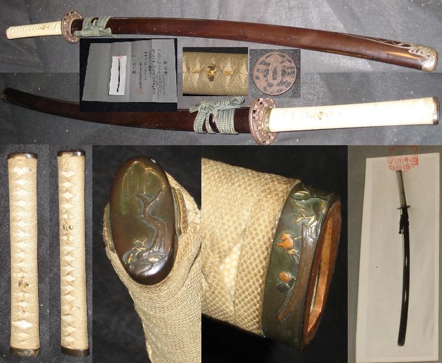 ★★★江戸時代の見事な打刀時代拵え 日本美術刀剣保存協会認定書付き _画像1