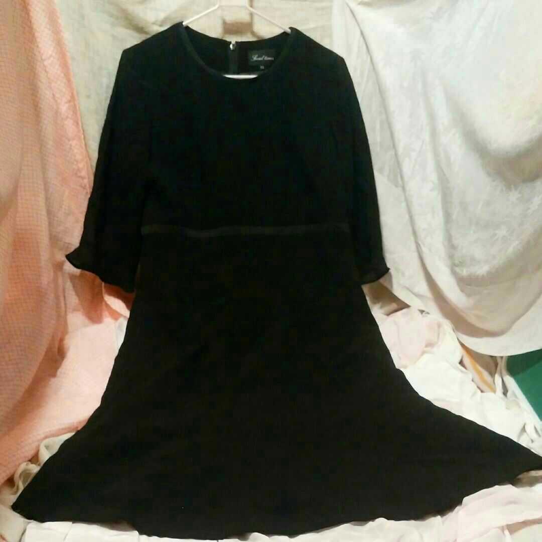 ■礼服 冠婚葬祭 レディース ワンピース 黒 サイズ11号 画像8参照 ブラックフォーマル _画像1
