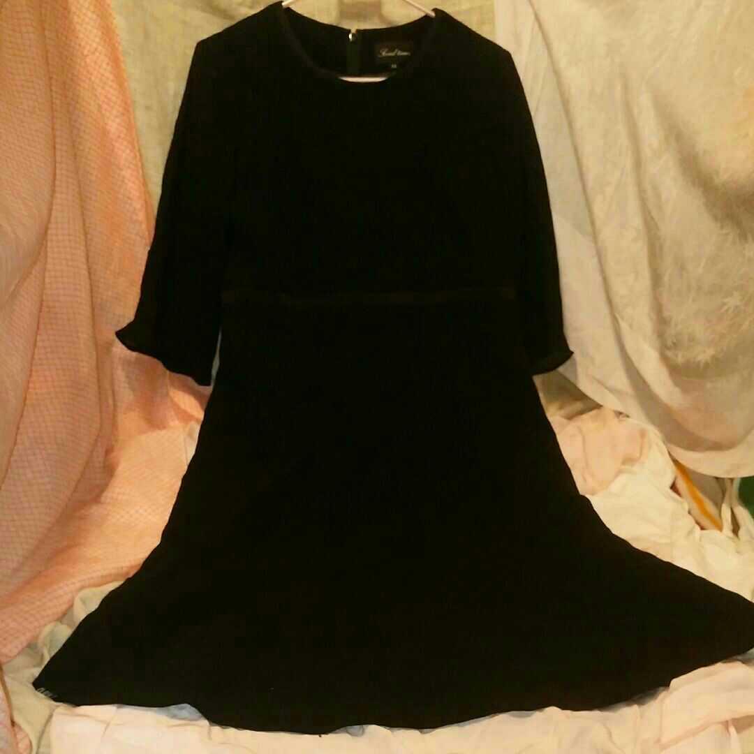 ■礼服 冠婚葬祭 レディース ワンピース 黒 サイズ11号 画像8参照 ブラックフォーマル _画像2