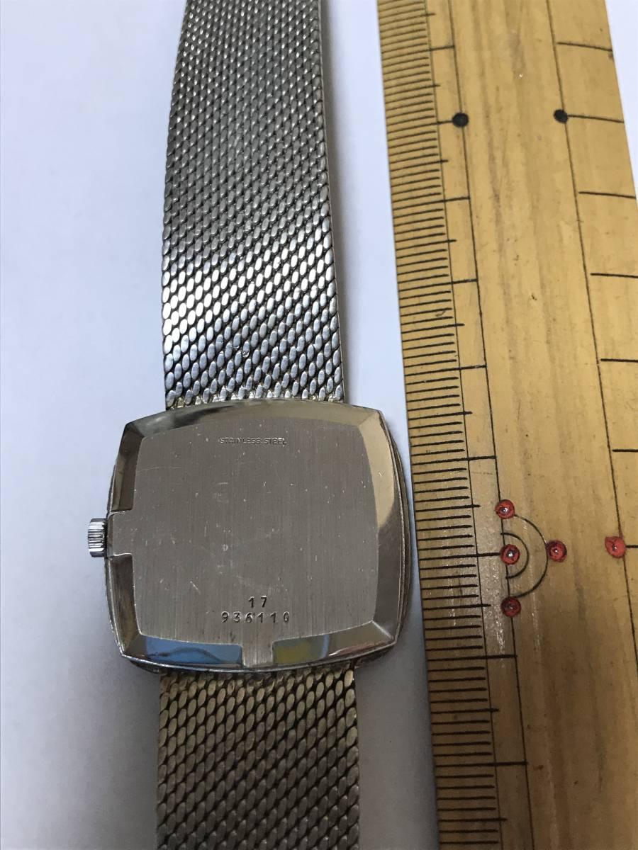 LONGINES手巻き18ホワイトゴールド腕時計_画像4