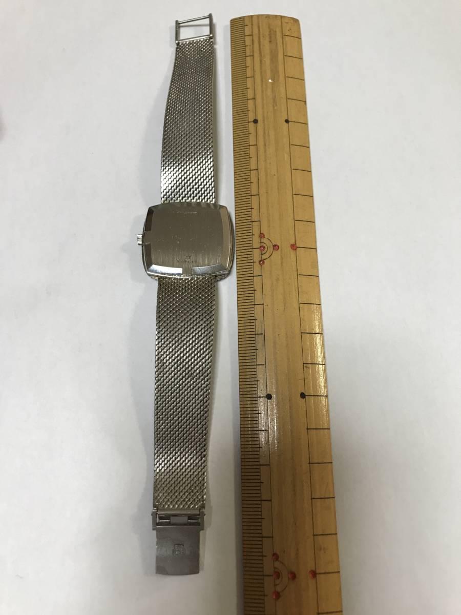 LONGINES手巻き18ホワイトゴールド腕時計_画像5