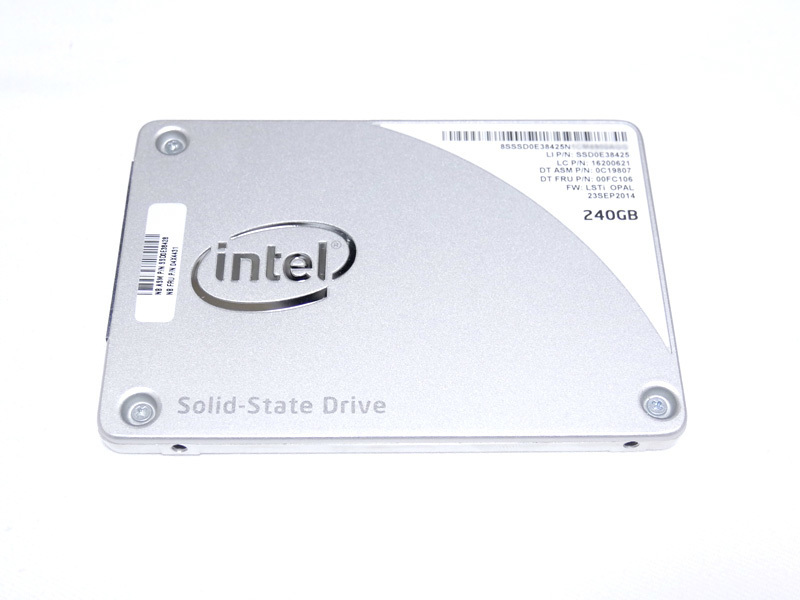 送料 198円 Intel SSD 240GB Pro 1500 シリーズ SSDSC2BF240A4L 中古品 動作確認済み MLC クリックポスト_画像1