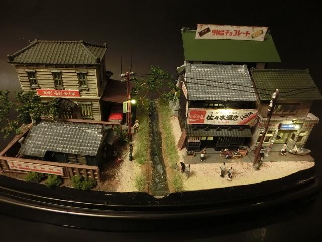1/150 昭和の田舎の情景『昭和の懐かしい風景シリーズ 42 』 ジオラマ完成品 ライトアップ クリアケース付_昭和の風景です