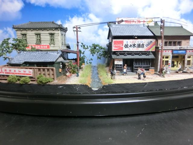 1/150 昭和の田舎の情景『昭和の懐かしい風景シリーズ 42 』 ジオラマ完成品 ライトアップ クリアケース付_昼間の様子です