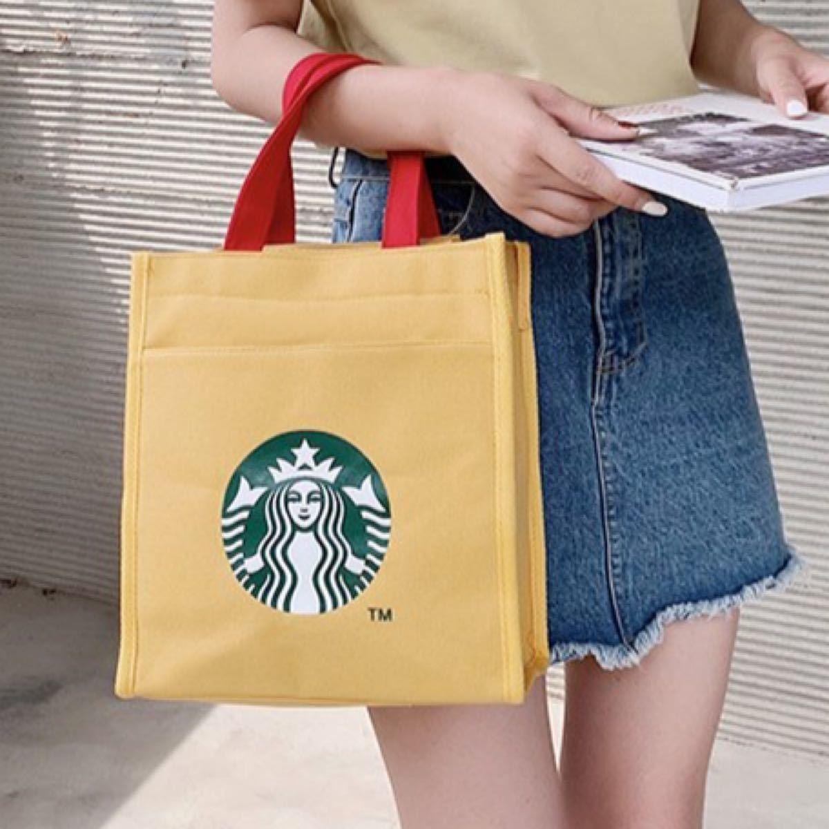 STARBUCKS スタバ エコバッグ トートバッグ ランチバッグ 黄色