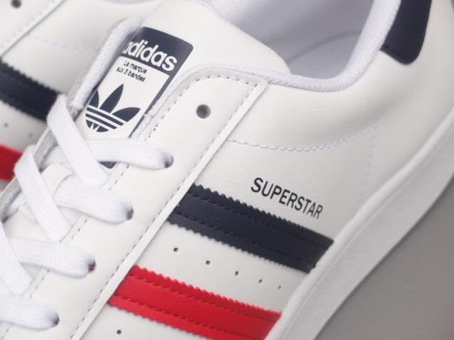 新品 限定カラー 20年 adidas スーパースター Ⅱ 白xトリコロール 28,5cm_画像5