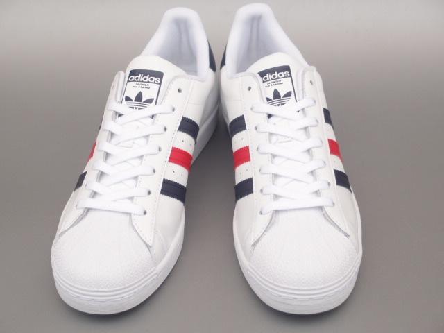 新品 限定カラー 20年 adidas スーパースター Ⅱ 白xトリコロール 28,5cm_画像3