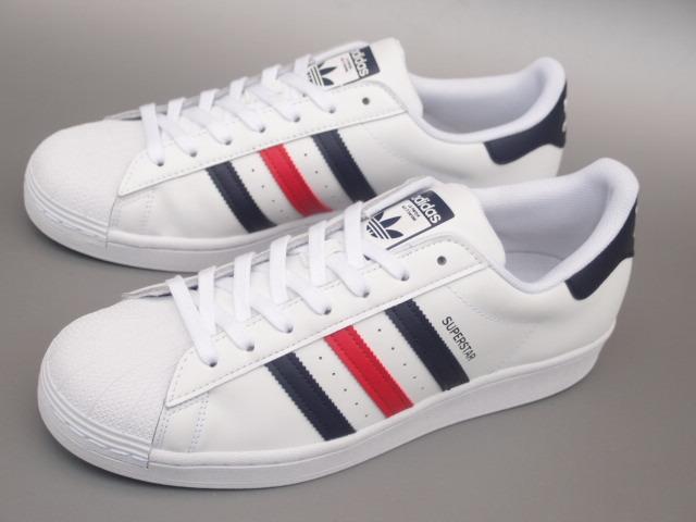 新品 限定カラー 20年 adidas スーパースター Ⅱ 白xトリコロール 28,5cm_画像2