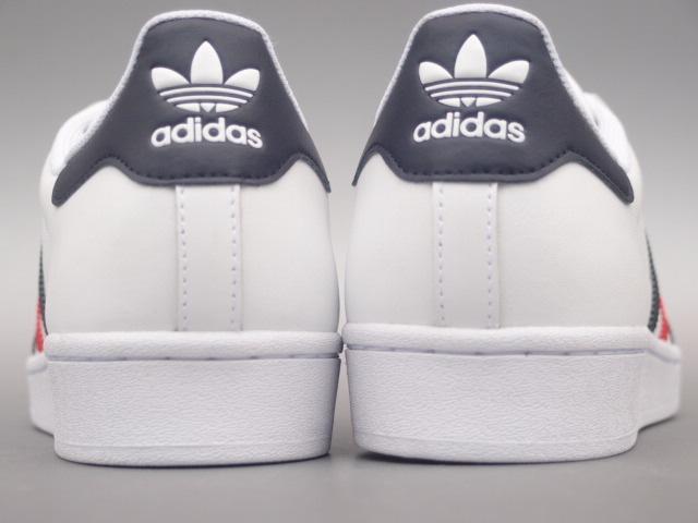 新品 限定カラー 20年 adidas スーパースター Ⅱ 白xトリコロール 28,5cm_画像4