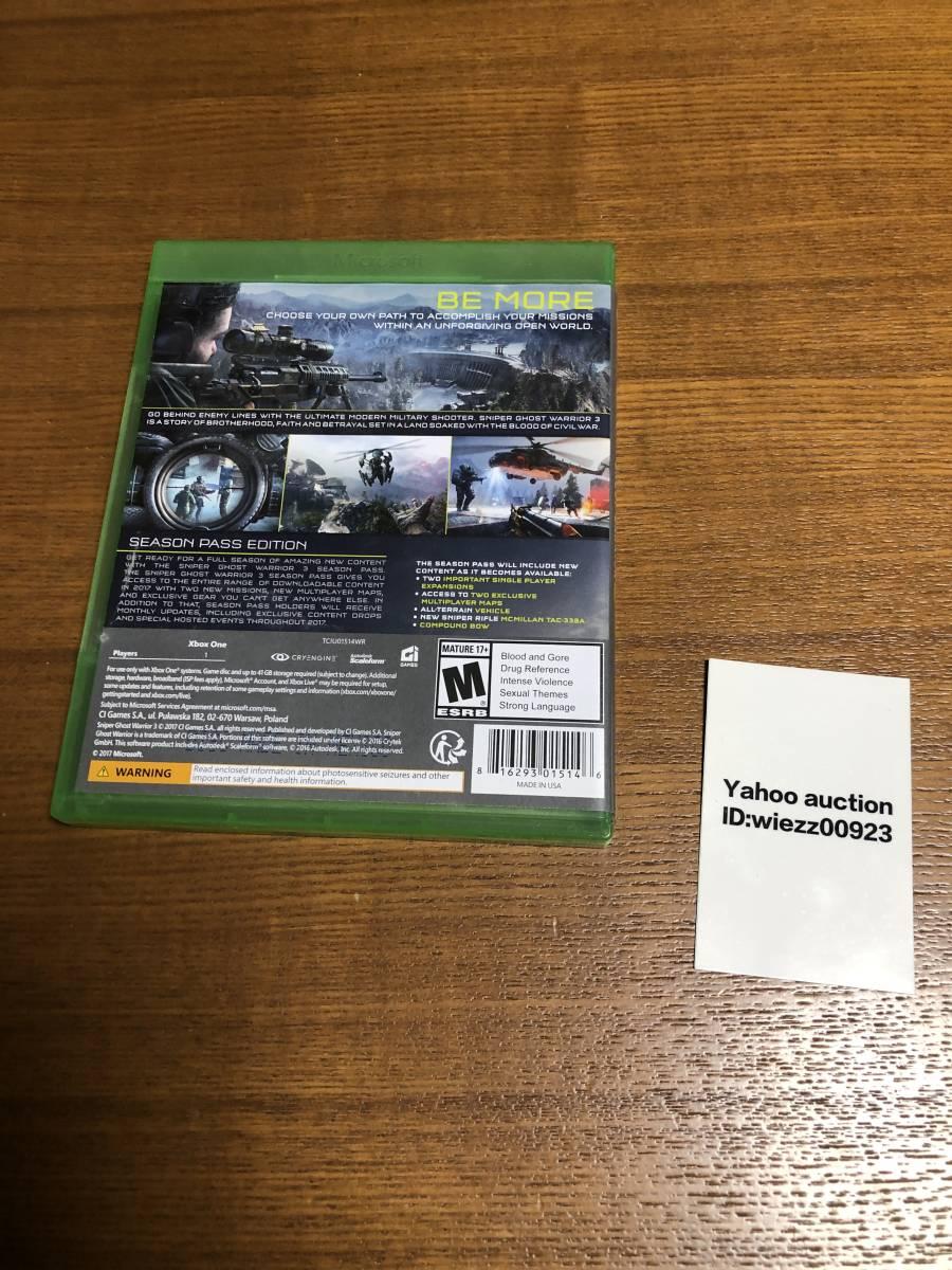 送料無料 Xbox One★スナイパー ゴーストウォリアー3 シーズンパスエディション 海外版★Xbox seriesX対応 ☆Sniper Ghost warrior3 ☆