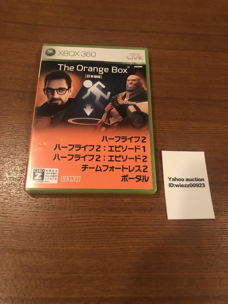 送料無料 Xbox360★オレンジボックス★used☆Orange box☆import Japan Xbox one/series X下位互換対応済