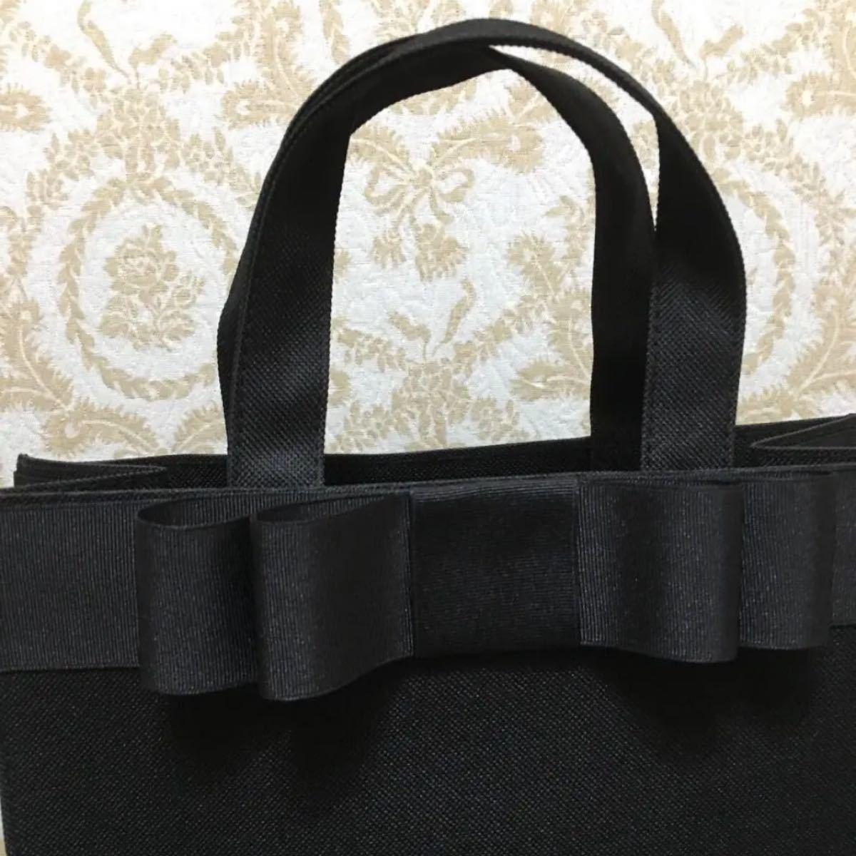 A4対応 トートバッグ リボンバッグ 説明会 ハンドメイド サブバッグ