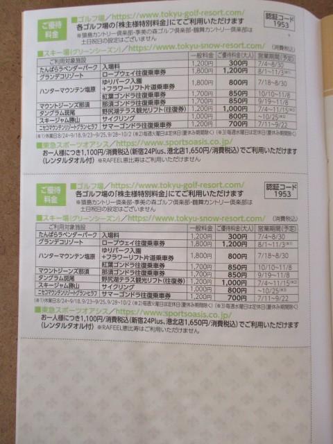 東急不動産ホールディングス 株主優待券1冊_画像5