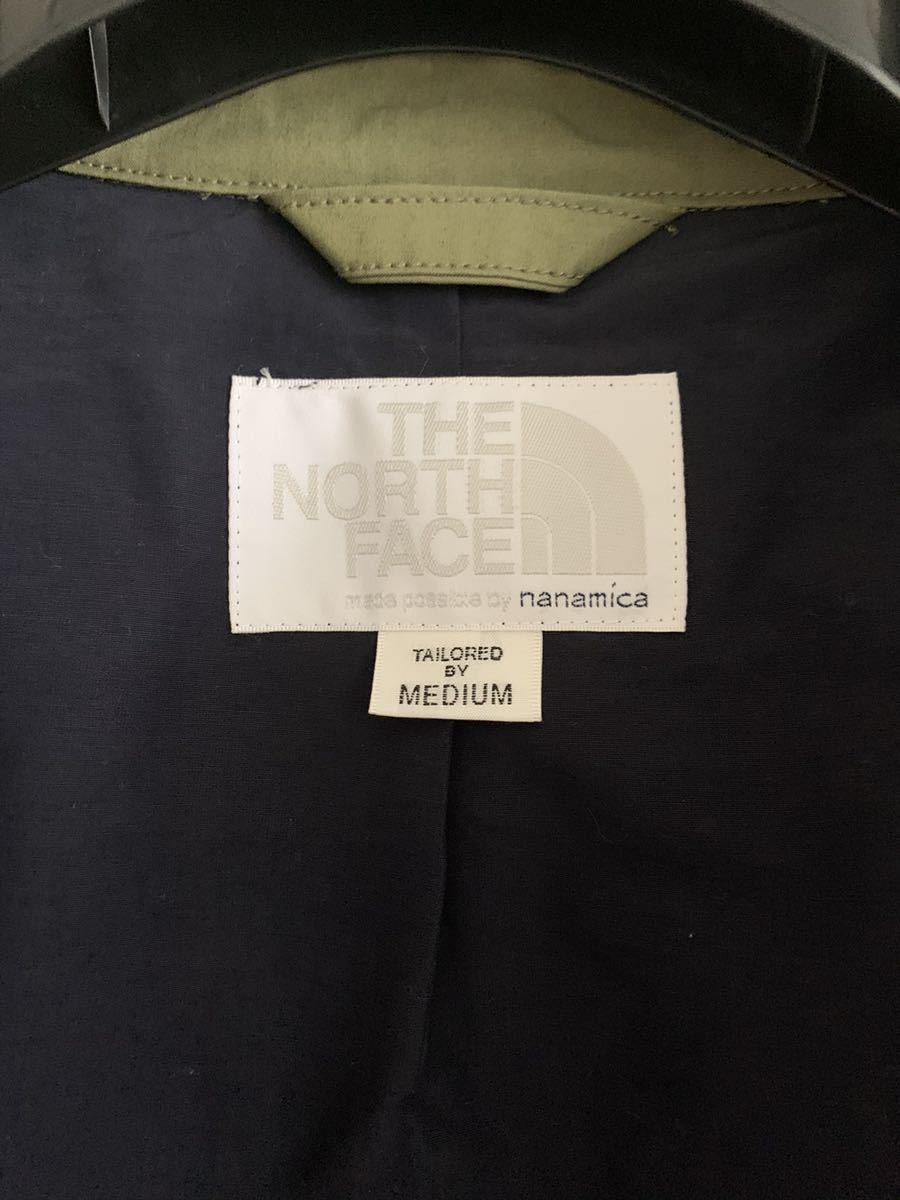 THE NORTH FACE×nanamica (ザノースフェイス×ナナミカ) Wind Coat カーキ サイズ:M 参考定価39.000円+税 送料込み