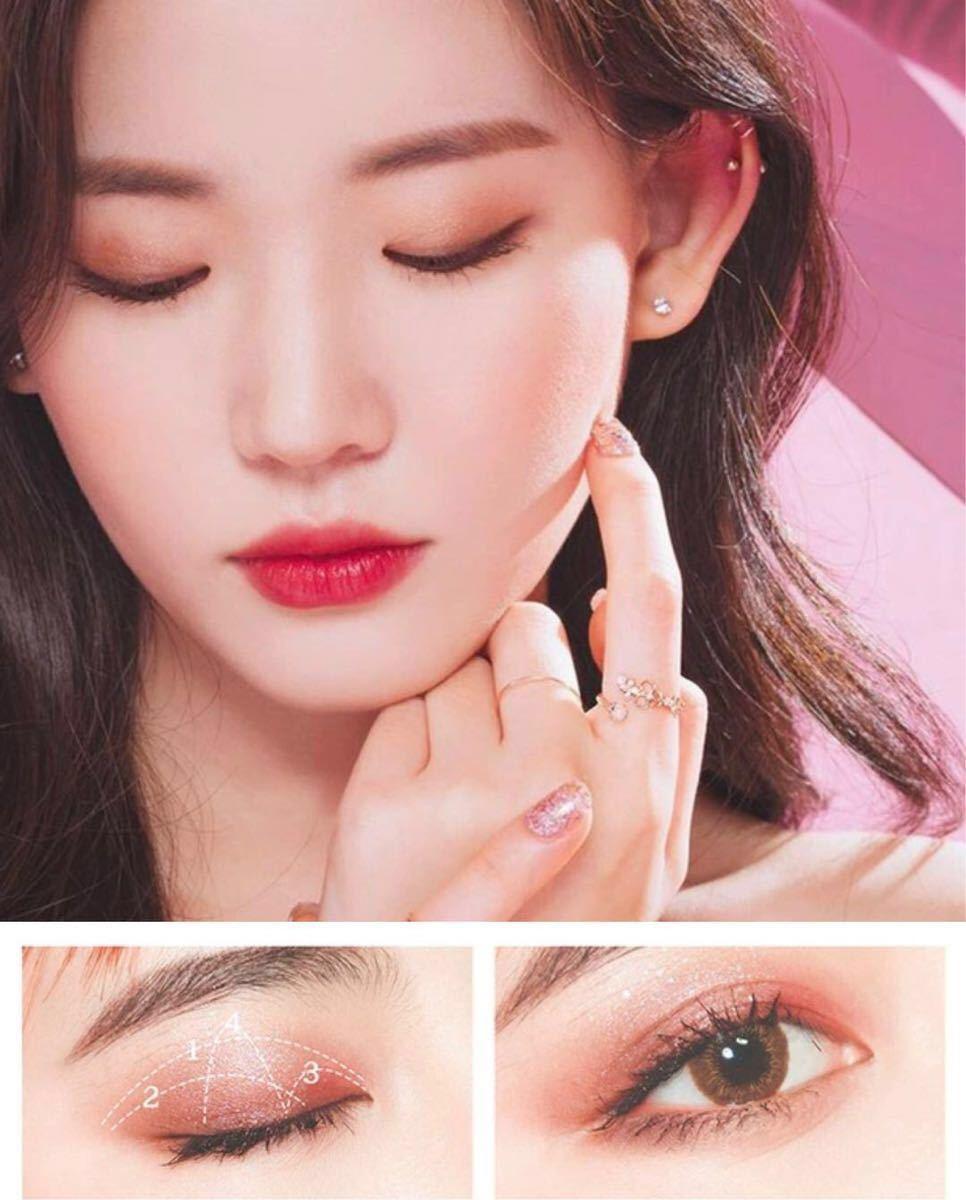 新品 アイシャドウ パレット 中国コスメ  赤 チャイボーグ  ピンク