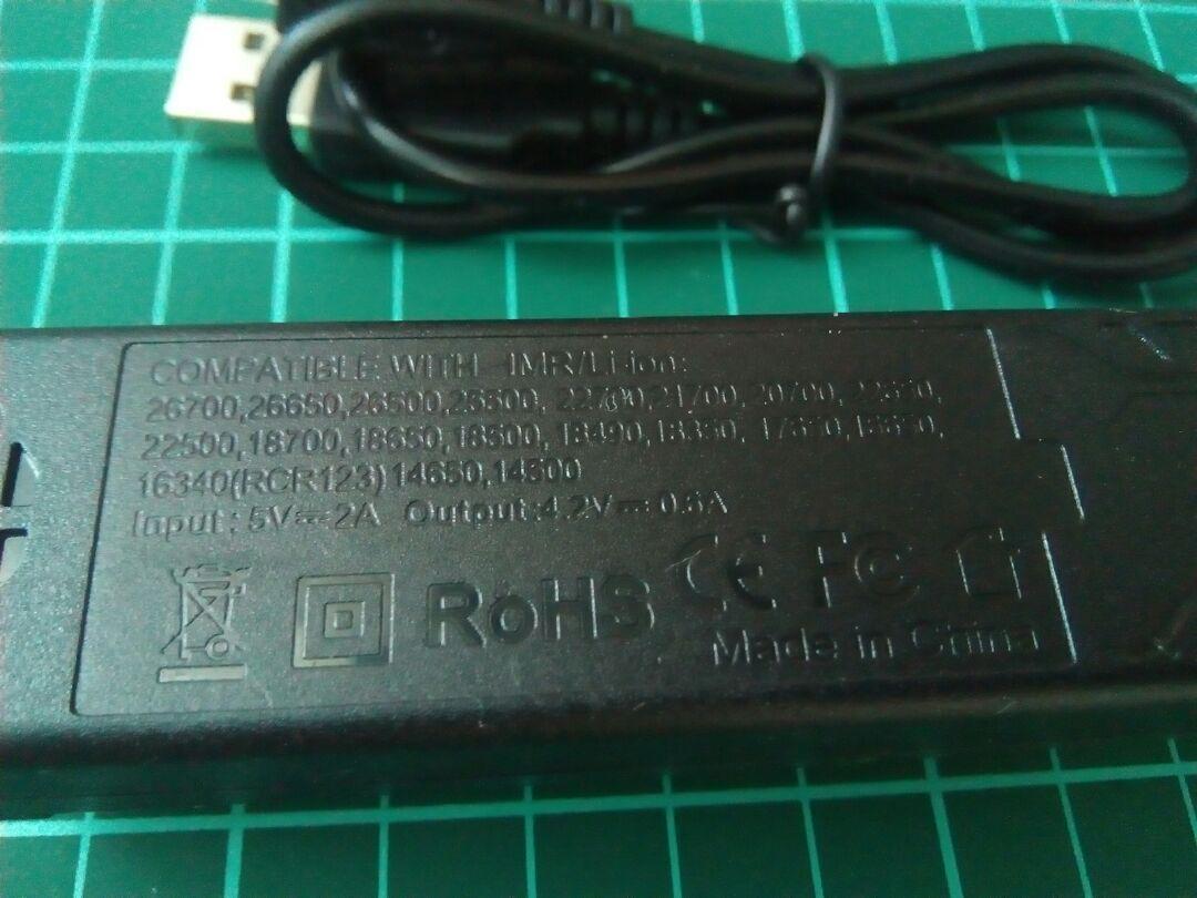 USB接続式 リチウムイオン電池専用充電器 マルチ保護システム 低電圧活性化機能、_画像2