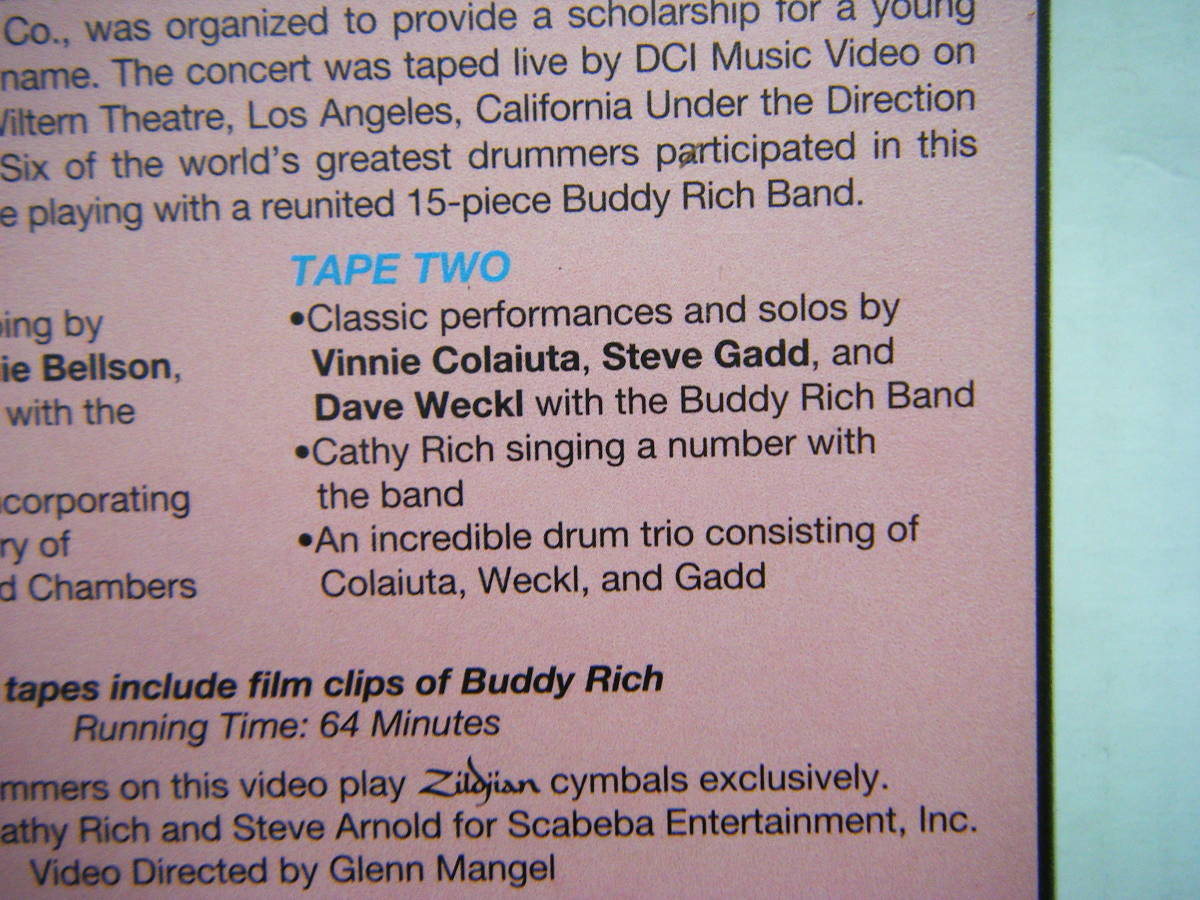 即決 BUDDY RICH MEMORIAL SCHOLARSHIP CONCERTの中古VHSビデオ・輸入版2本 / STEVE GADD, DAVE WECKL他 / 詳細は写真4~10をご参照_画像9