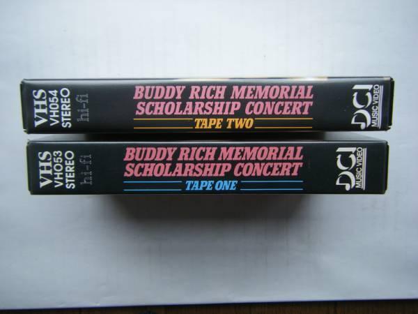 即決 BUDDY RICH MEMORIAL SCHOLARSHIP CONCERTの中古VHSビデオ・輸入版2本 / STEVE GADD, DAVE WECKL他 / 詳細は写真4~10をご参照_画像3