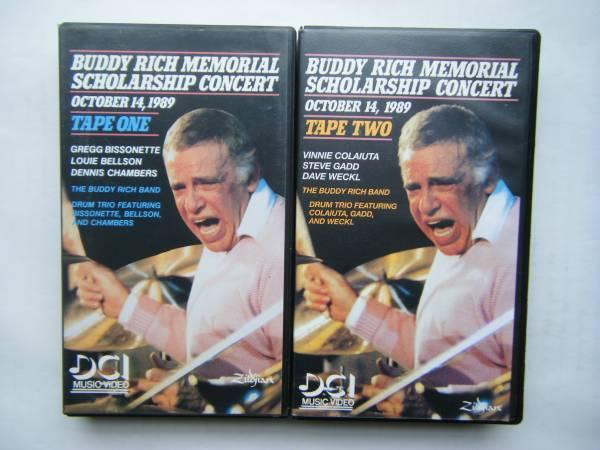即決 BUDDY RICH MEMORIAL SCHOLARSHIP CONCERTの中古VHSビデオ・輸入版2本 / STEVE GADD, DAVE WECKL他 / 詳細は写真4~10をご参照_画像1