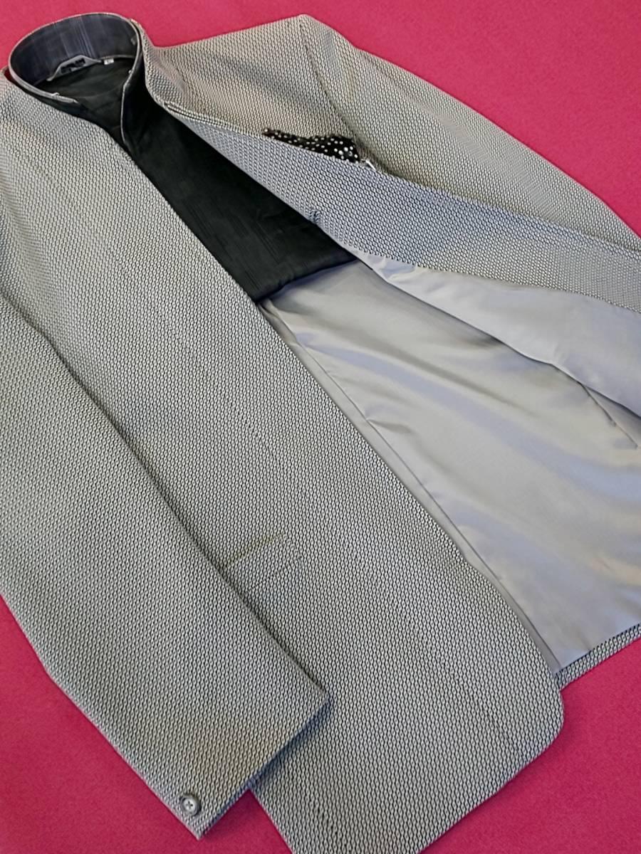 新品 SALE!! 特別価格!! 送料無料 l'garage マオカラースーツ スリータック LLサイズ ゆったり パーティー 結婚式 ステージ衣装 4525-1 _画像5