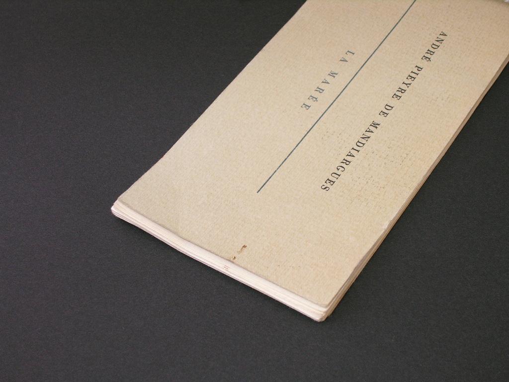 「満潮」(1962年)●アンドレ・ピエール・ド・マンディアルグ 著 ●エディション番号付き6000部の限定本 ●非売品