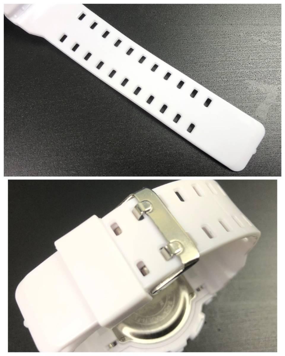 スポーツ腕時計 LED デジタル 腕時計 時計 ミリタリー 耐久性 スポーツ アウトドア キャンプ 男女兼用 ランニング  ホワイト 22 _画像4