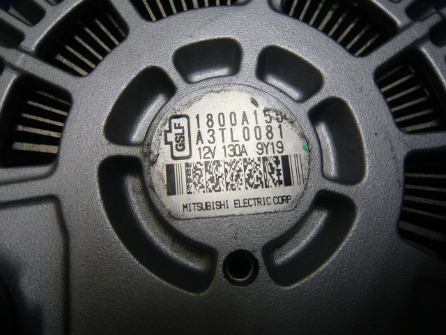 CZ4AランサーエボリューションX ダイナモ オルタネーター リビルト品 CX4Aギャランフォルティススポーツバック CY4Aギャランフォルティス_同品番のダイナモの返却が必要です。