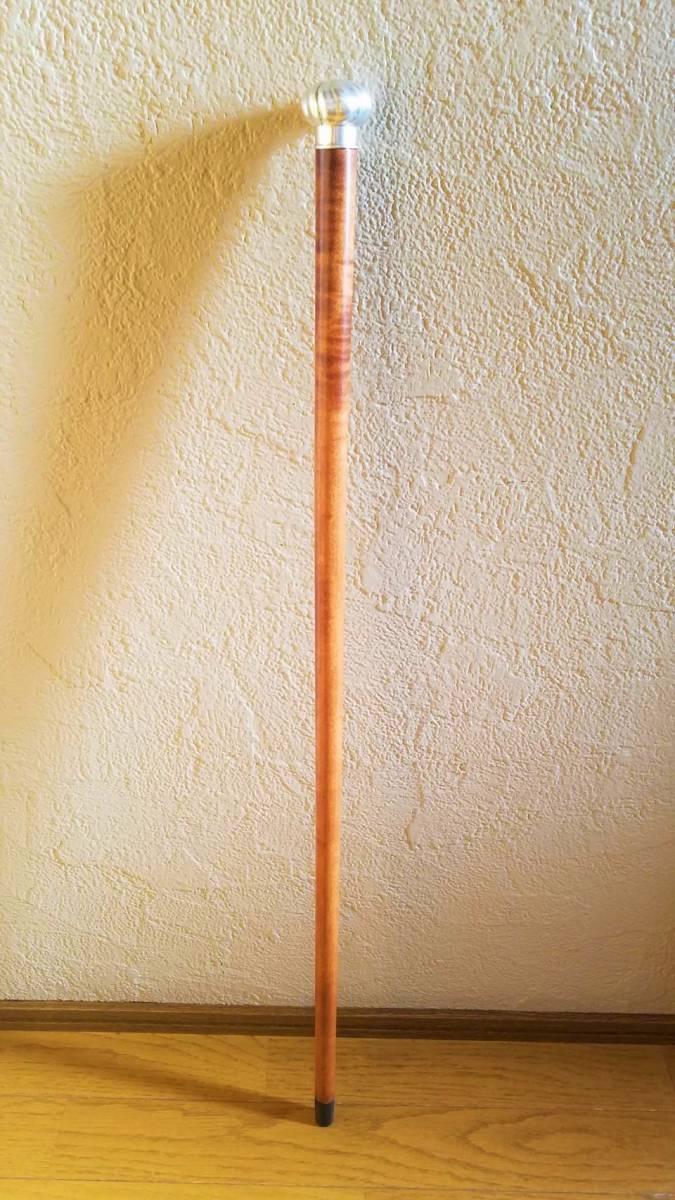 英国 アンティーク ステッキ 杖 銀製 大黒型ハンドル 樫 シャフト 86cm_画像10