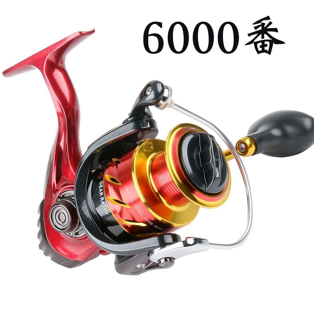 YU89 スピニングリール 6000番 釣りリール リール 軽量 最大ドラグ力12.5kg 遠投 海水 淡水 両用 左右交換ハンドル交換可能 左巻き 右巻き_画像1