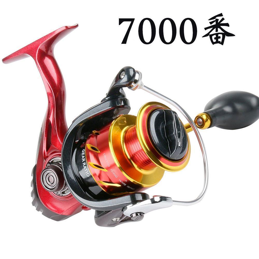YU89 スピニングリール 7000番 釣りリール リール 軽量 最大ドラグ力12.5kg 遠投 海水 淡水 両用 左右交換ハンドル交換可能 左巻き 右巻き_画像1