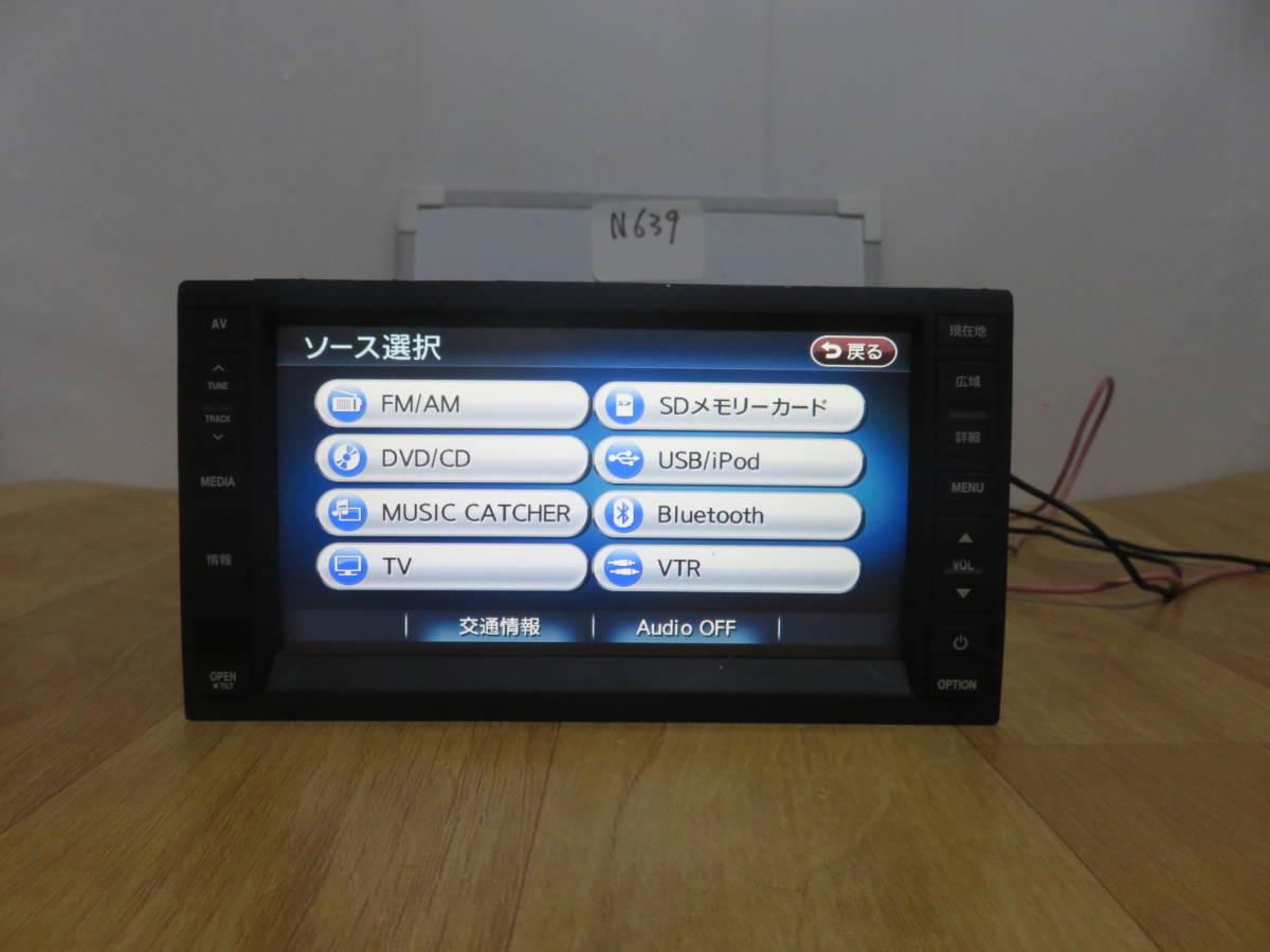 N639 VW純正ワイドSSDナビ 2012年  J0VDC2JP6/Bluetooth内蔵 TV地デジフルセグ内蔵 DVDビデオ再生  CD録音 新東名高速  _画像4