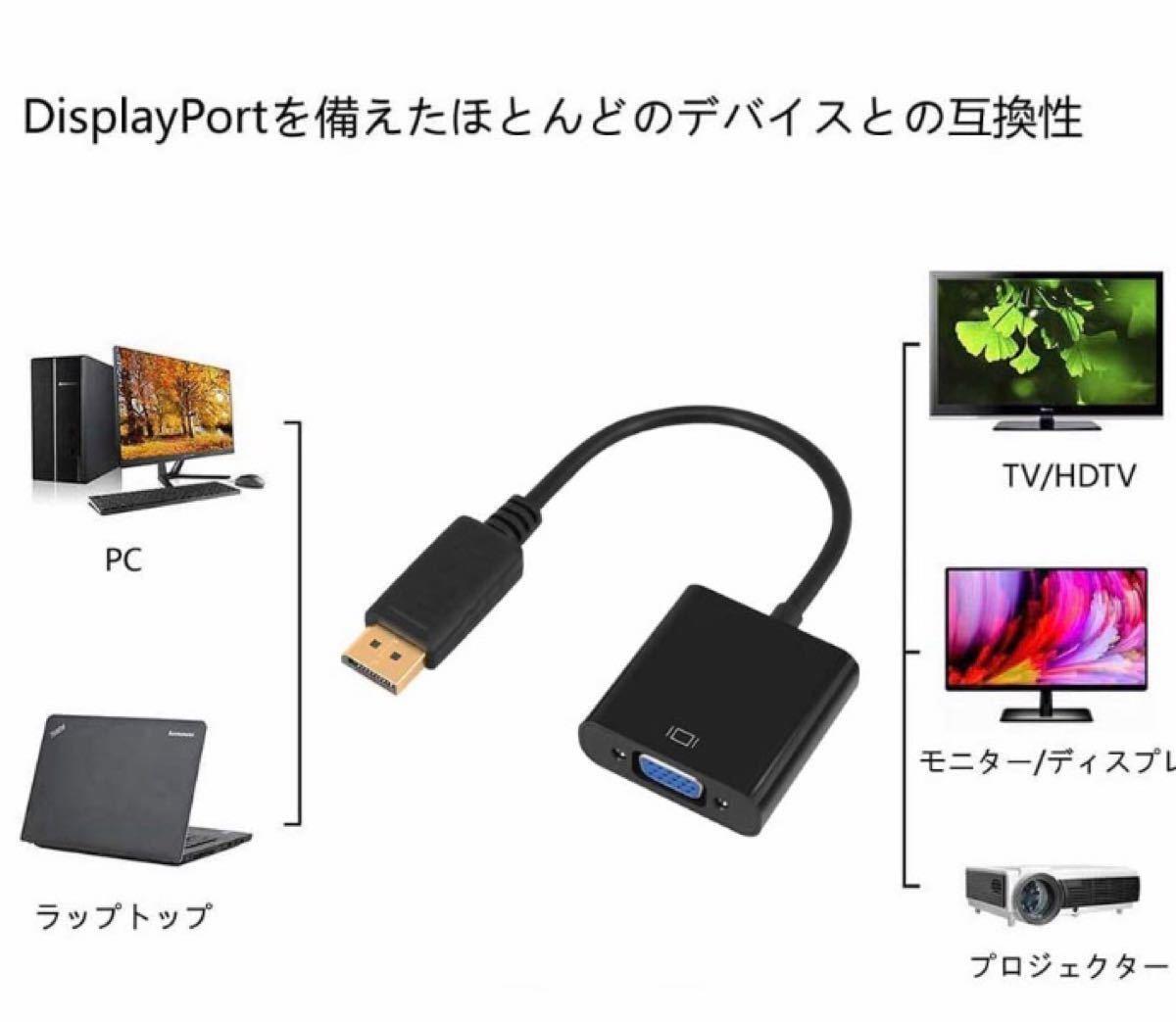 DisplayPort TO  VGA変換アダプタ