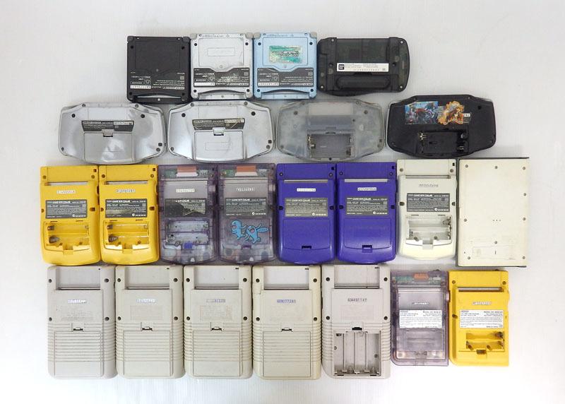 ジャンク品 ゲームボーイ ゲームボーイアドバンス ゲームボーイアドバンスエスピー ゲームボーイカラー 本体のみ 23台セット Nintendo_画像2