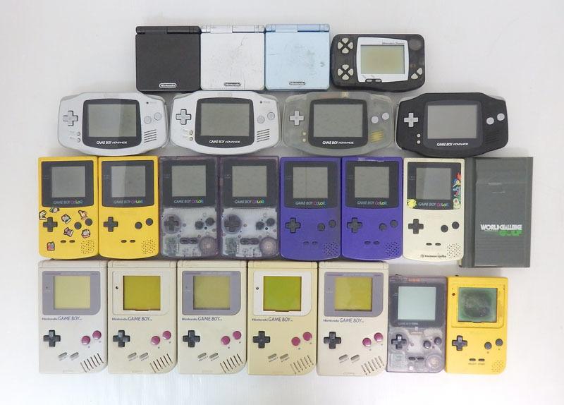 ジャンク品 ゲームボーイ ゲームボーイアドバンス ゲームボーイアドバンスエスピー ゲームボーイカラー 本体のみ 23台セット Nintendo_画像1