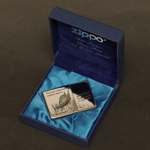 動作確認済 美品 ZIPPO ポケットクロック バックライト付き タイムタンク 置き時計  POCKET CLOCK TIME TANK 1996年製