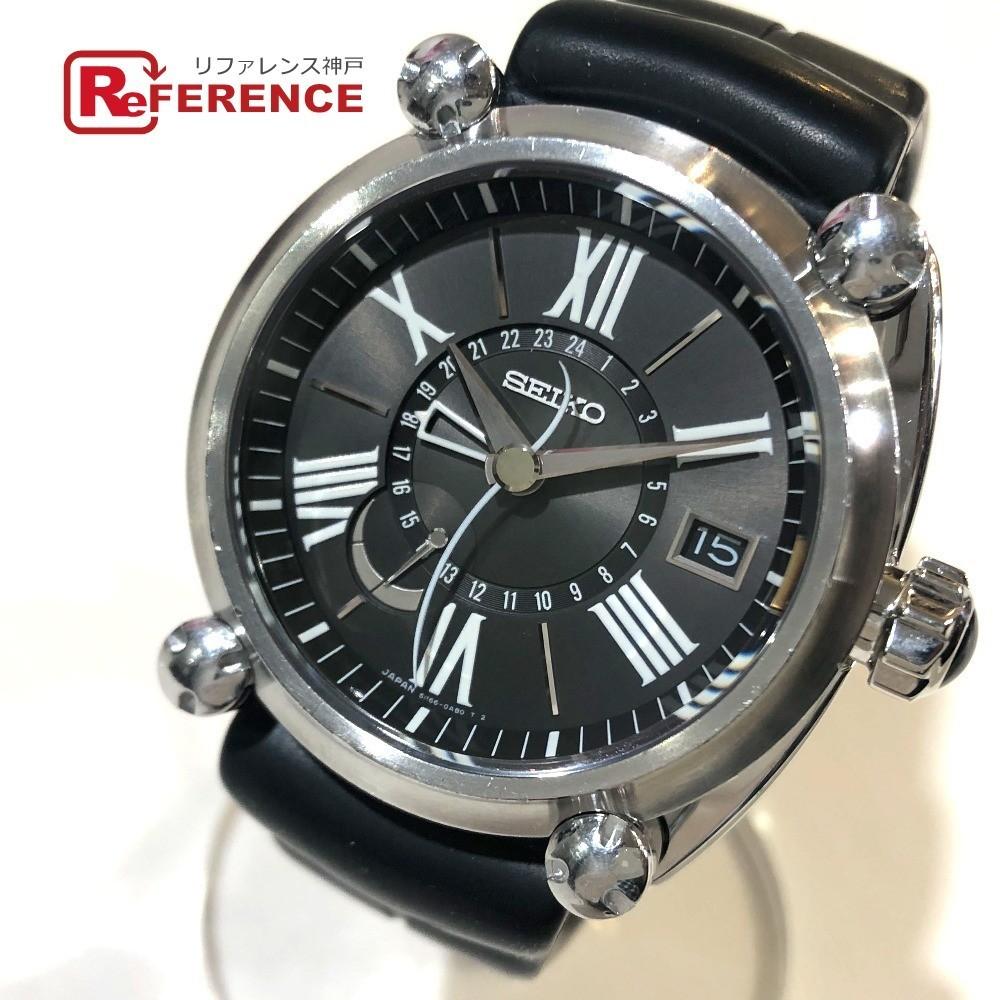 SEIKO セイコー 5R66-0AB0/SBLA003 ガランテ 裏スケ スプリングドライブGMT メンズ腕時計 腕時計 SS/ラバー メンズ