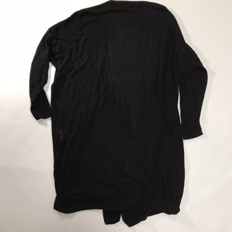 chocol raffine robe カーディガン ドロップショルダー 黒 ブラック 長袖 カーデ ロングカーディガン ショコラフィネローブ シンプル
