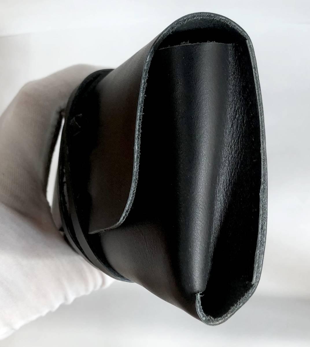 新品/未開封】本牛革レーザーケース 一枚革 厚手レザー 黒ロープ ヴィンテージスタイル_画像6
