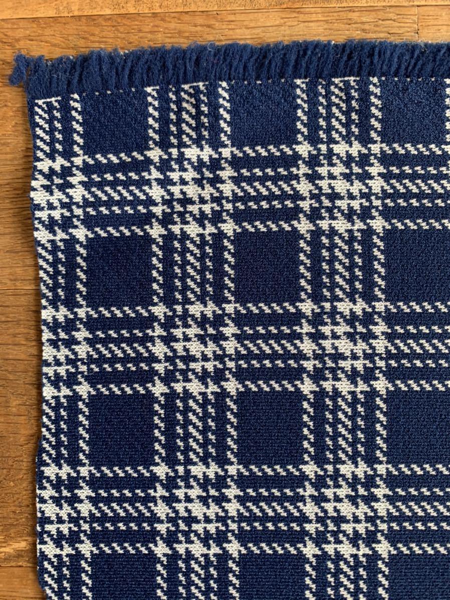 はぎれ 格子柄 はぎれ デッドストック チェック インポート ハンドメイド 手作り 青色 リメイク 雑貨 コレクター 布 レトロ チェック 厚手
