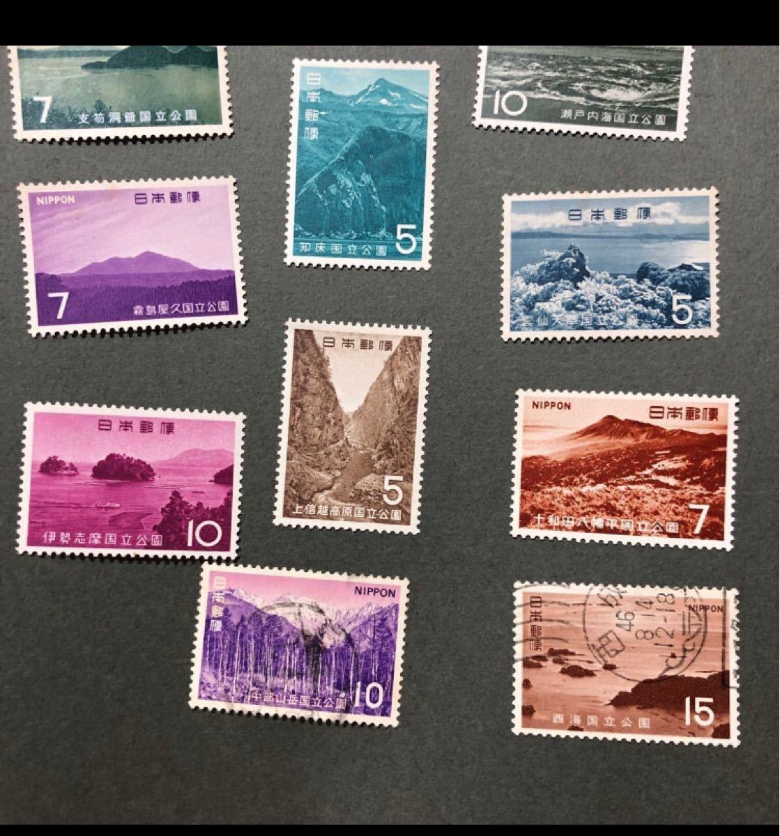 1108 国立公園 切手 16枚 未使用14枚