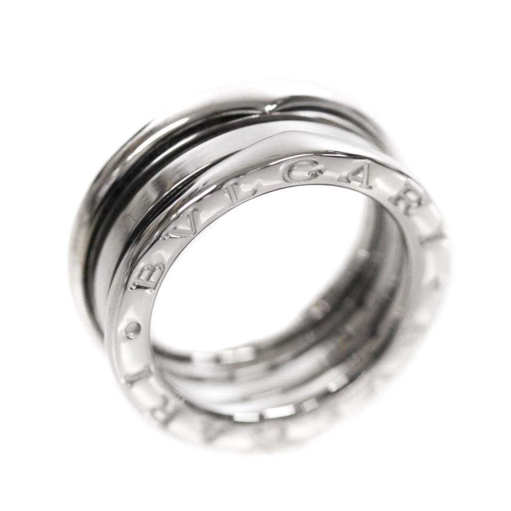 即決 ブルガリ B-zero1 ビーゼロワン 750WG #50 リング・指輪 レディース K18ホワイトゴールド ジュエリー 9.5号 K18WG_画像1