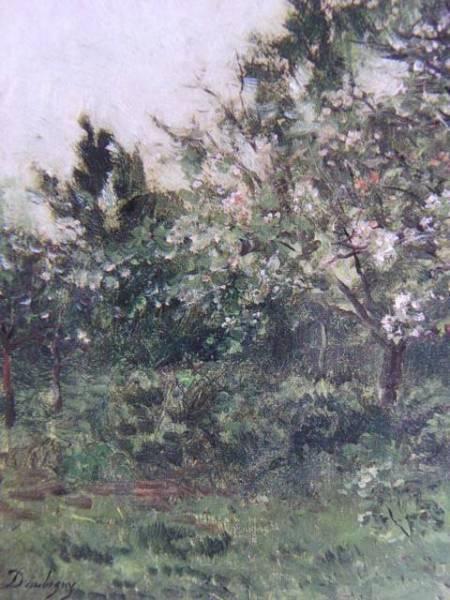 シャルル=フランソワ・ドービニー 、花咲く林檎の木、希少画集画、新品額装付、送料込み、y321_画像2