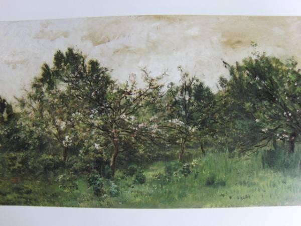 シャルル=フランソワ・ドービニー 、花咲く林檎の木、希少画集画、新品額装付、送料込み、y321_画像1