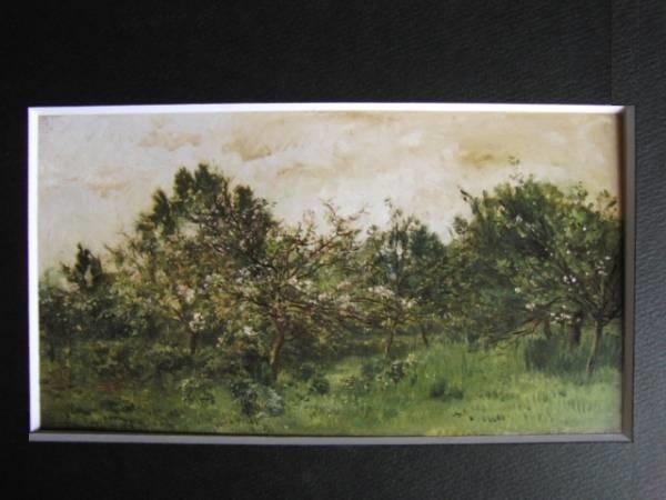 シャルル=フランソワ・ドービニー 、花咲く林檎の木、希少画集画、新品額装付、送料込み、y321_画像3